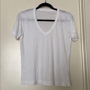Zadig & Voltaire white distressed shirt